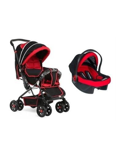 Rival Rv109 Lucido Çift Yönlü Travel Sistem Bebek Arabası Kırmızı